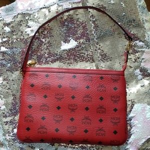 ❤Red MCM❤ pouch/wristlet/small shoulder bag
